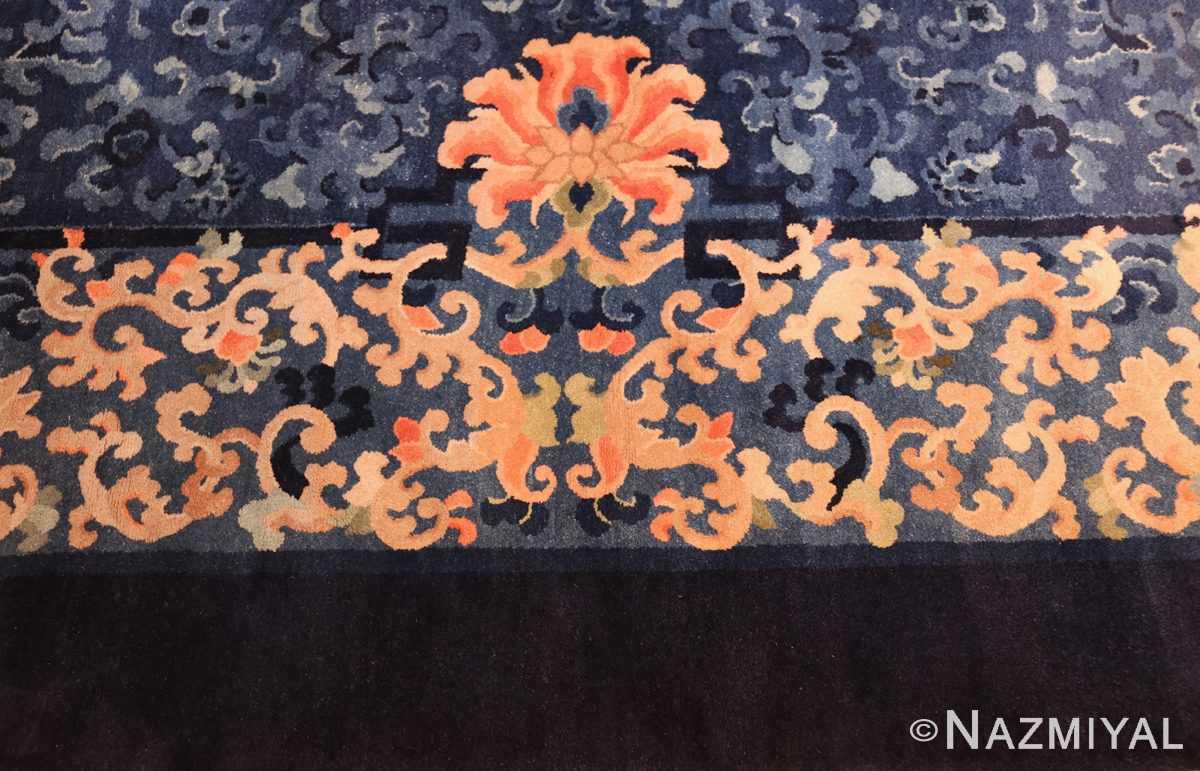 antique blue background chinese rug 49240 border Nazmiyal