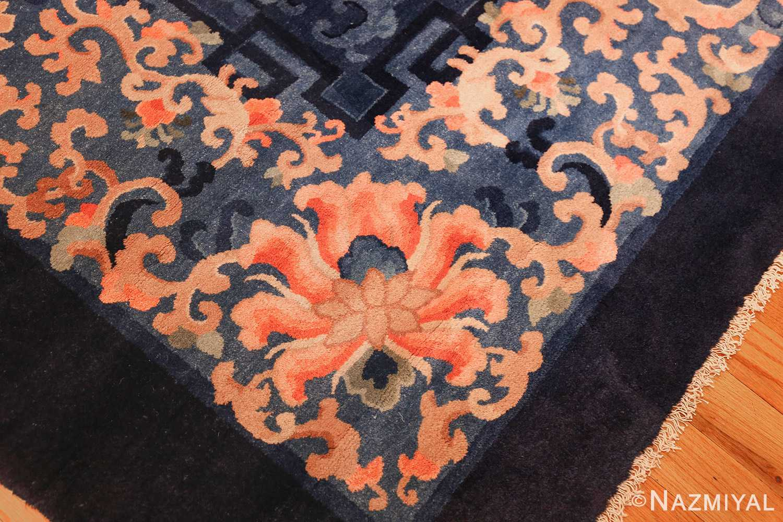 antique blue background chinese rug 49240 corner Nazmiyal