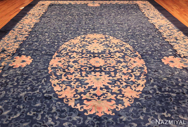 antique blue background chinese rug 49240 full Nazmiyal