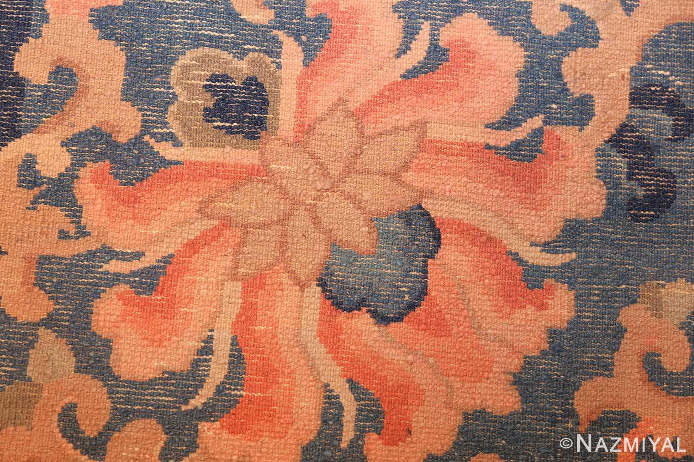 antique blue background chinese rug 49240 weave Nazmiyal