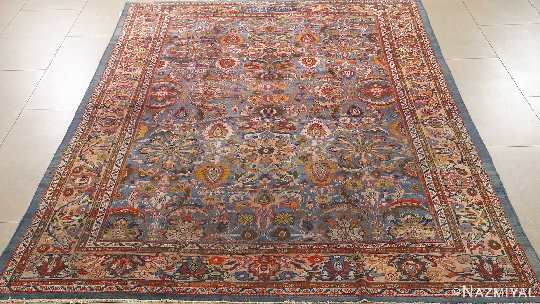 antique blue background zigler sultanabad persian rug 51060 full Nazmiyal
