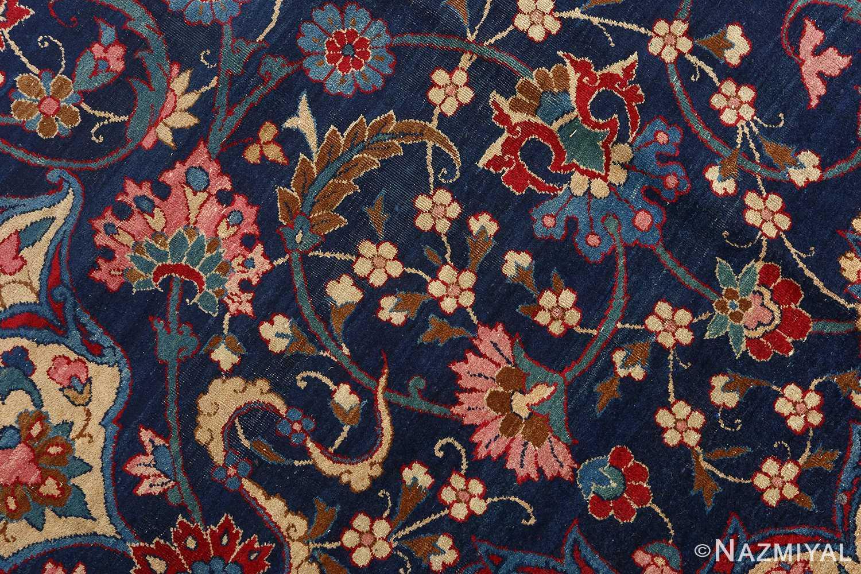 antique blue bakground isfahan persian rug 51066 field Nazmiyal