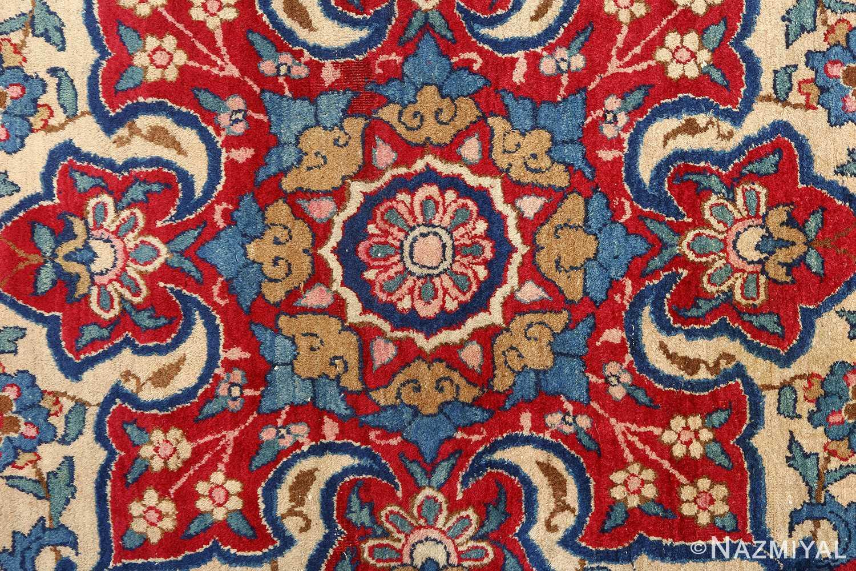 antique blue bakground isfahan persian rug 51066 medallion Nazmiyal