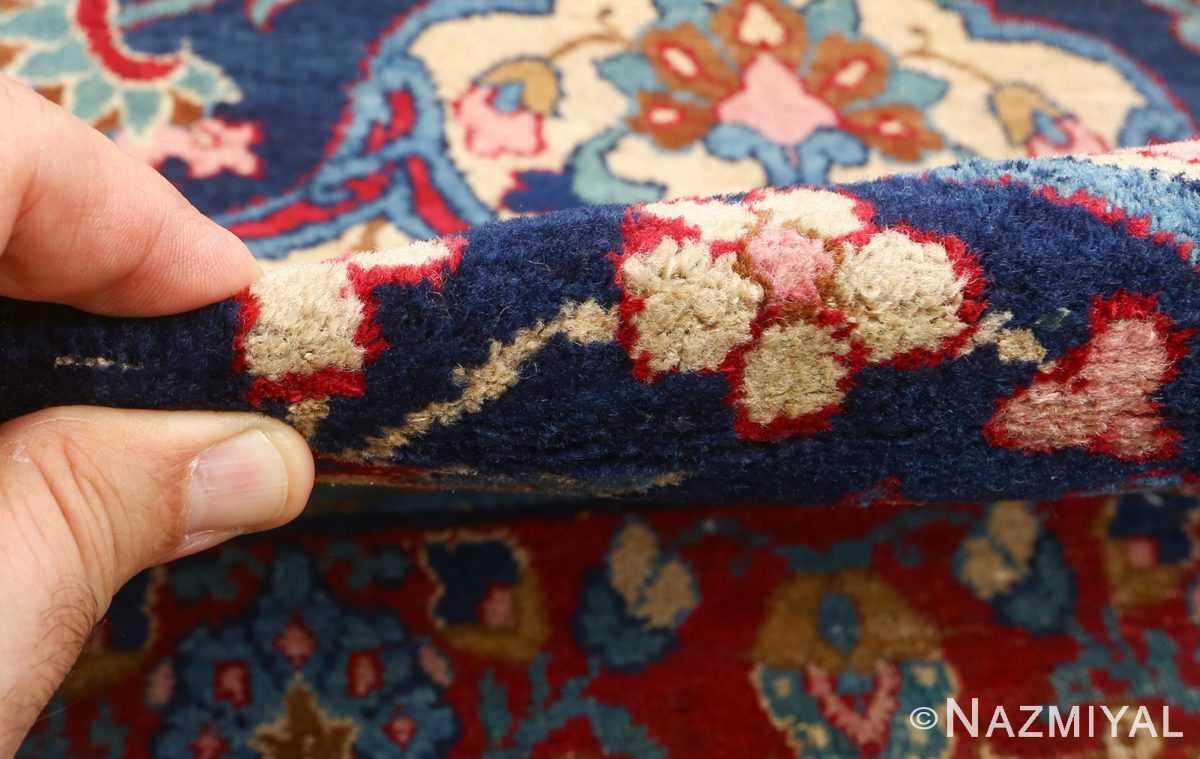 antique blue bakground isfahan persian rug 51066 pile Nazmiyal