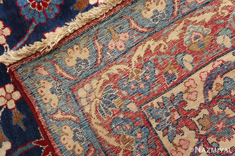 antique blue bakground isfahan persian rug 51066 weave Nazmiyal