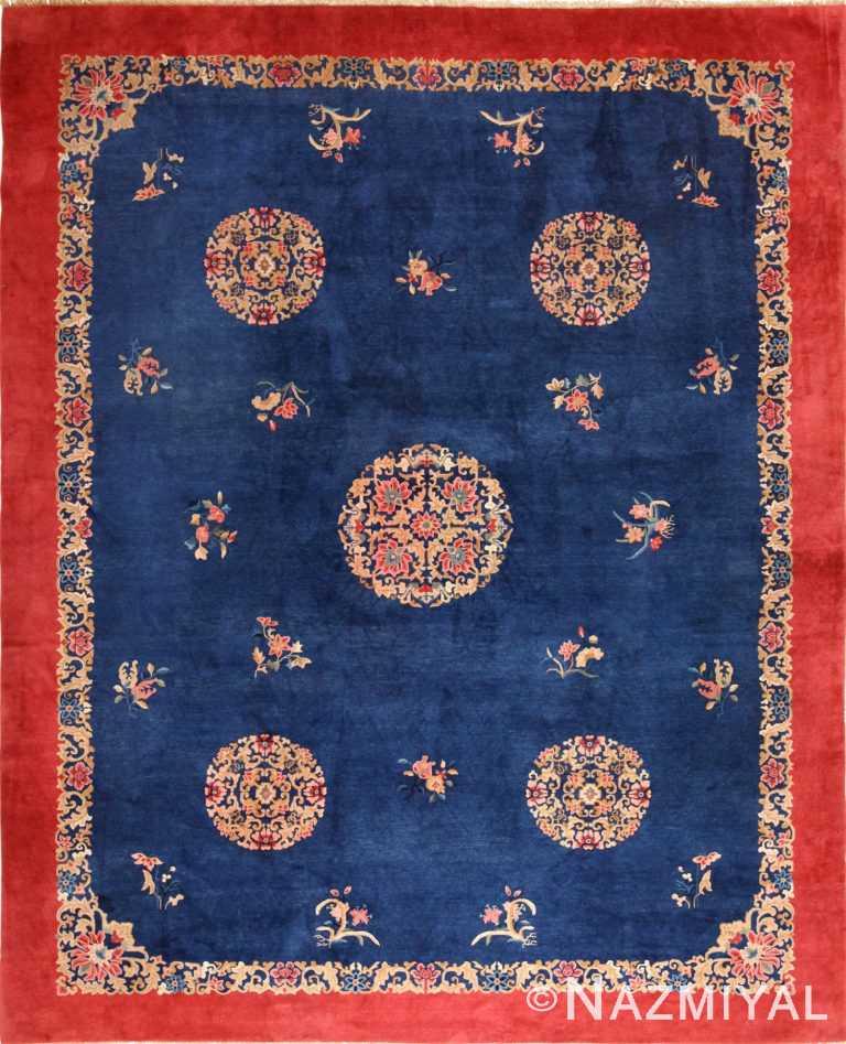 antique blue chinese rug 49243 Nazmiyal
