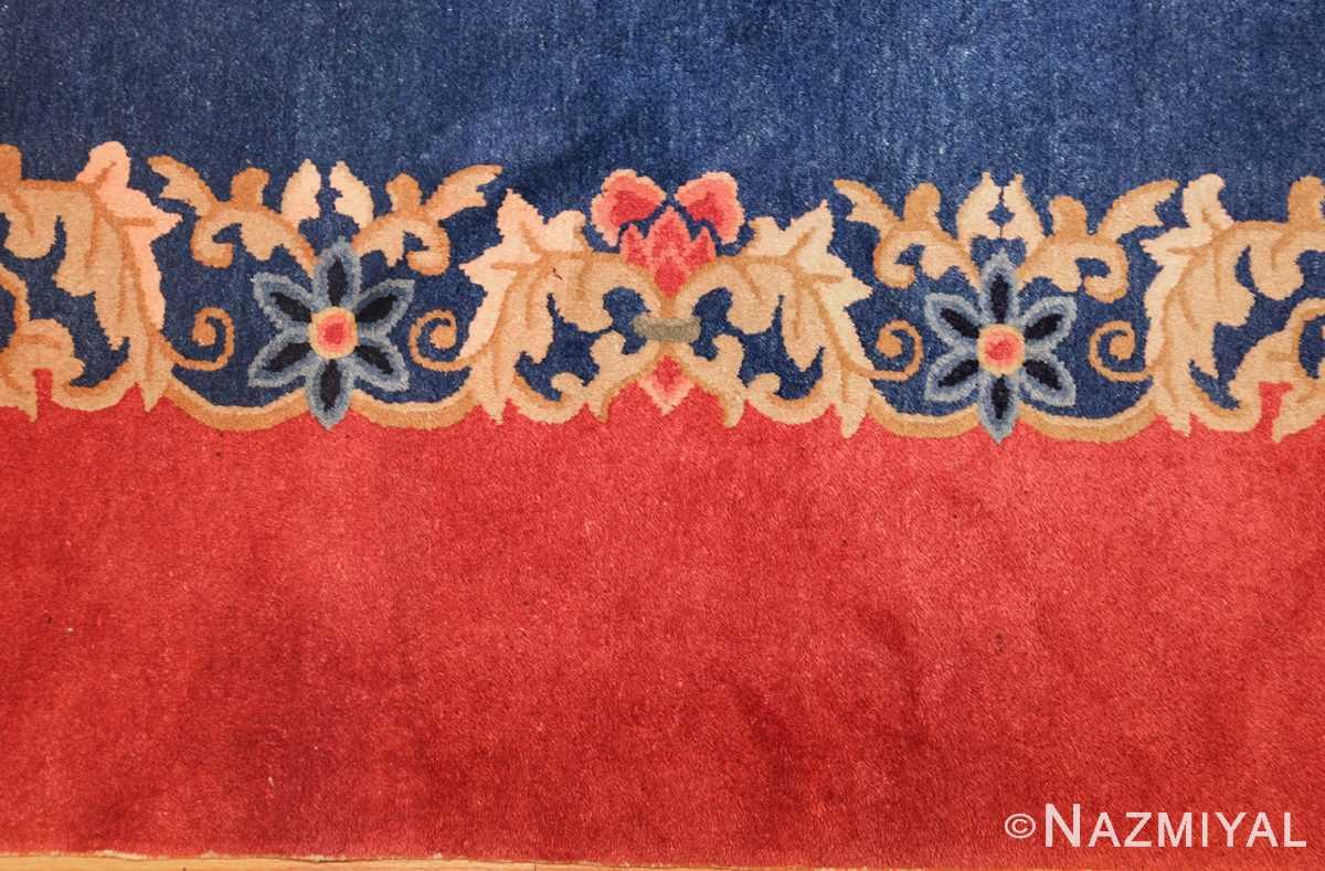 antique blue chinese rug 49243 border Nazmiyal