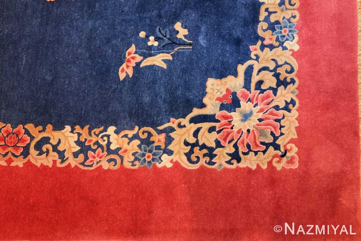 antique blue chinese rug 49243 corner Nazmiyal