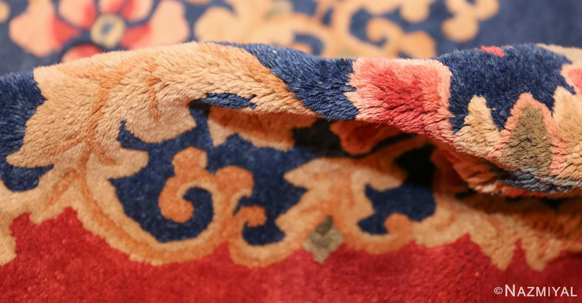 antique blue chinese rug 49243 pile Nazmiyal