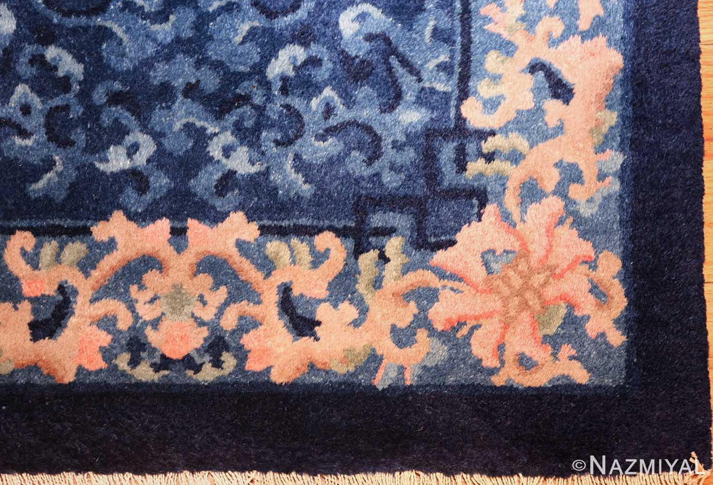antique floral chinese rug 49241 corner Nazmiyal