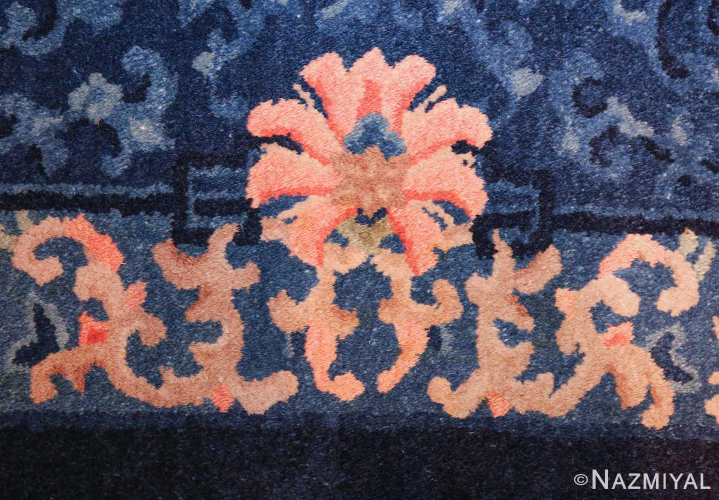 antique floral chinese rug 49241 flower Nazmiyal