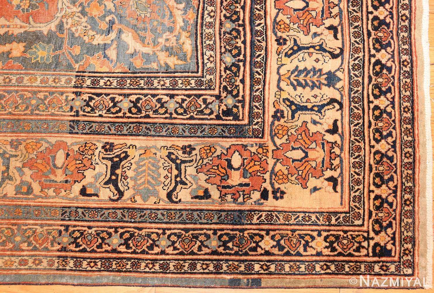 antique haji jalili persian tabriz rug 49216 corner Nazmiyal