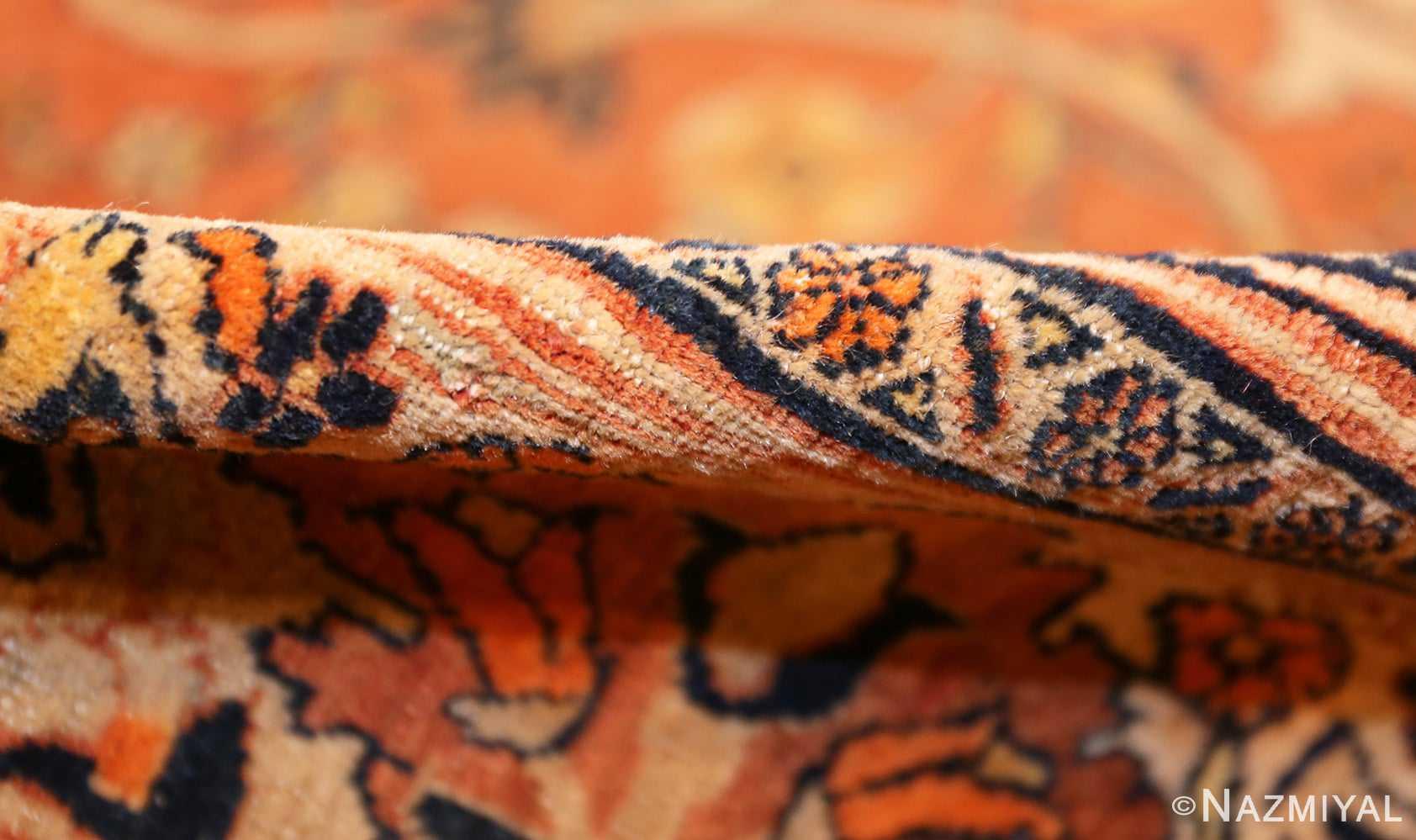 antique haji jalili persian tabriz rug 49216 pile Nazmiyal