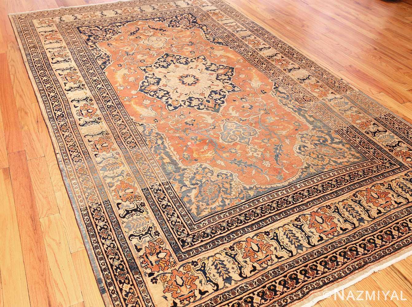 antique haji jalili persian tabriz rug 49216 side Nazmiyal