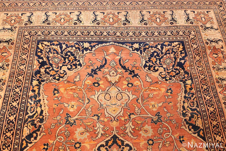 antique haji jalili persian tabriz rug 49216 top Nazmiyal