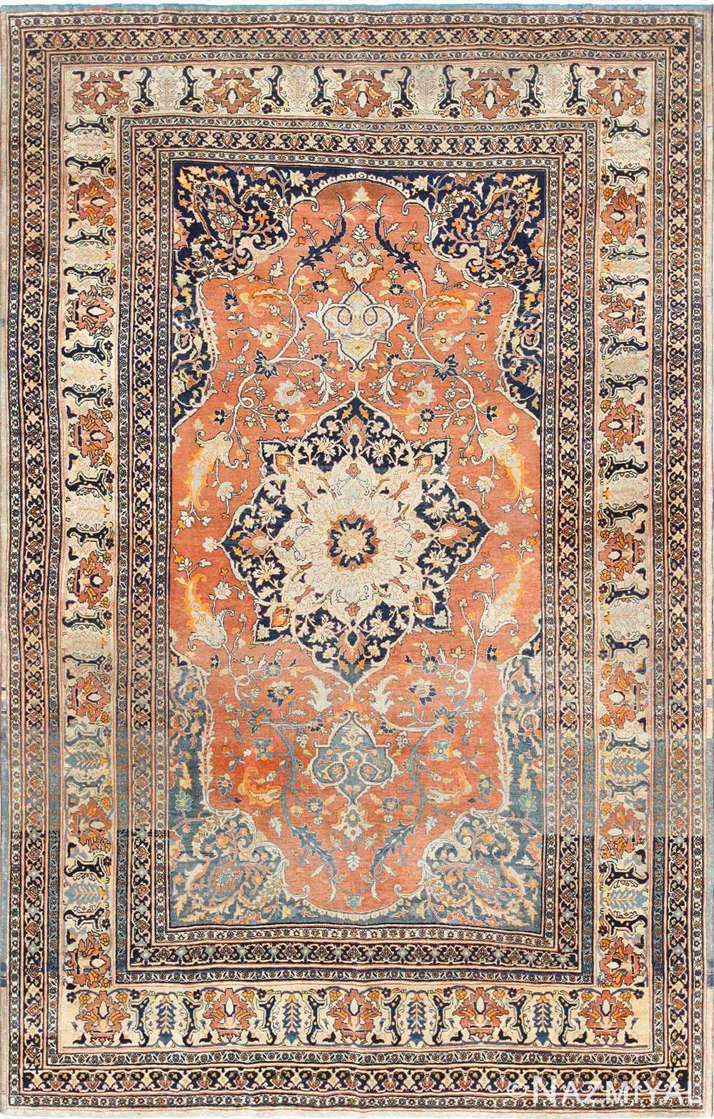 antique haji jalili persian tabriz rug 49216 Nazmiyal