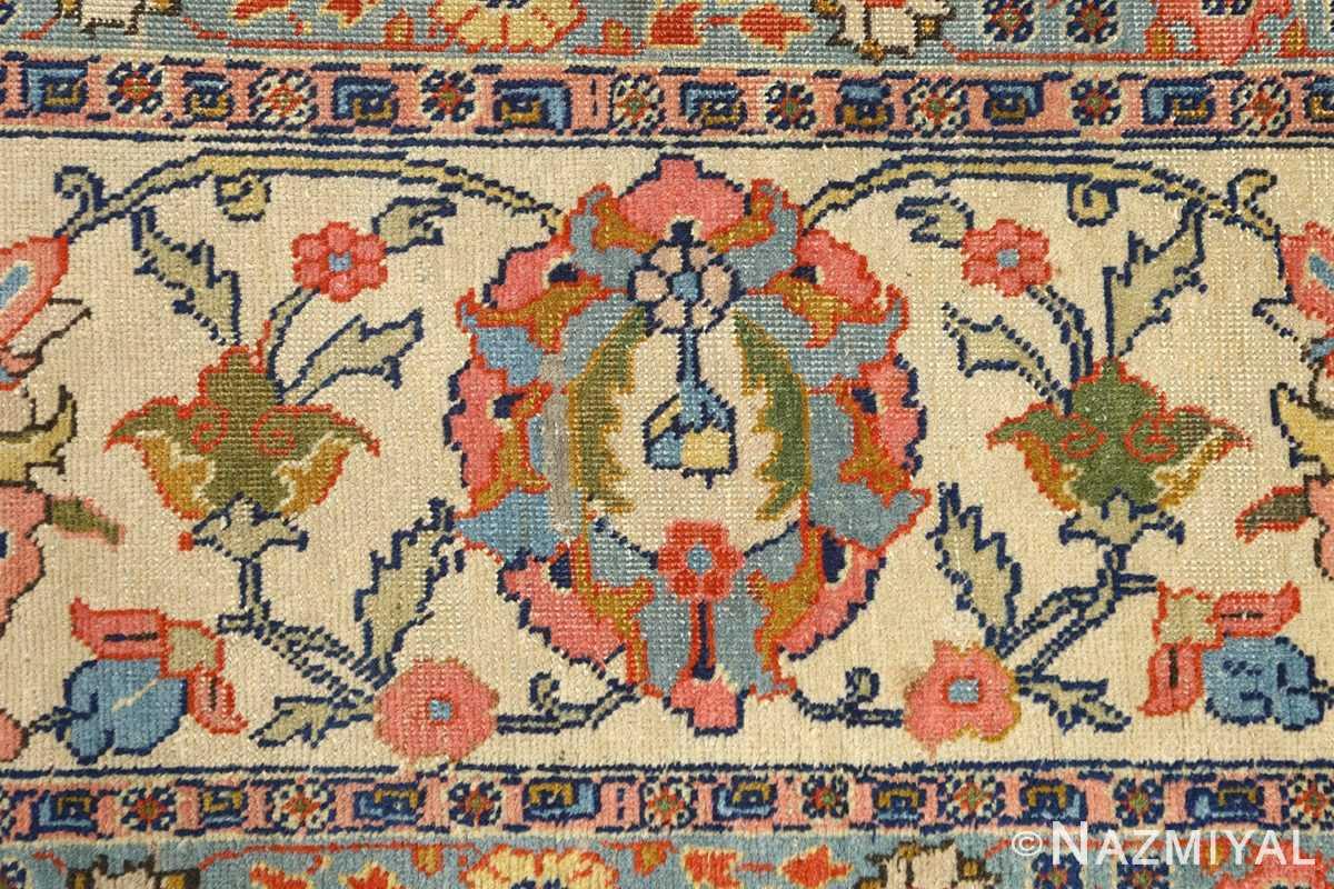 antique navy bakground tabriz persian rug 51061 border Nazmiyal