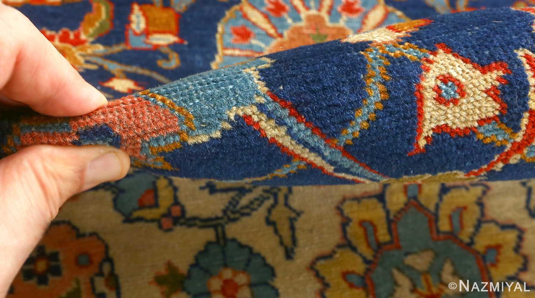 antique navy bakground tabriz persian rug 51061 pile Nazmiyal