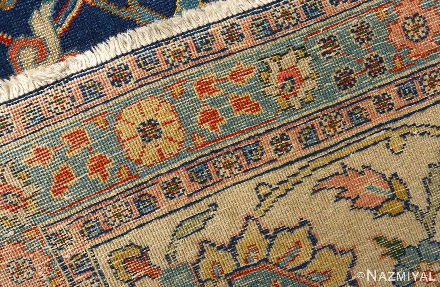 antique navy bakground tabriz persian rug 51061 weave 2 Nazmiyal