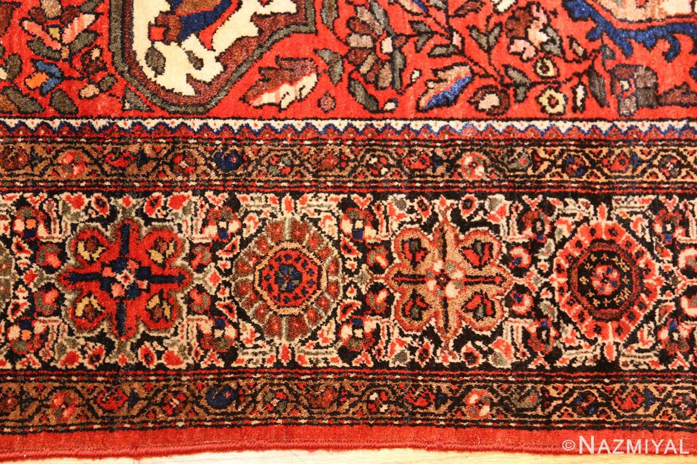 antique sarouk farahan persian rug 49236 border Nazmiyal