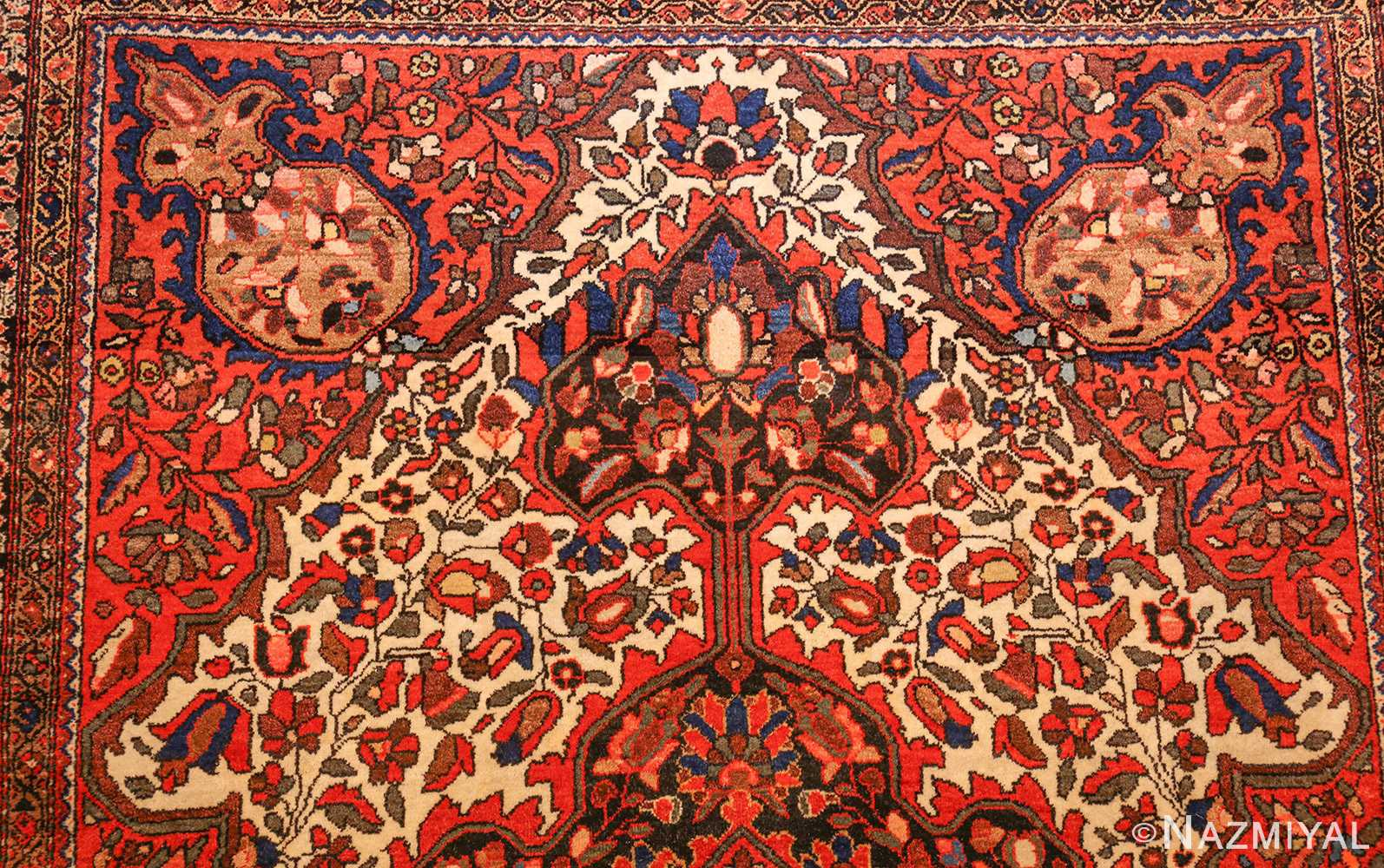 antique sarouk farahan persian rug 49236 top Nazmiyal