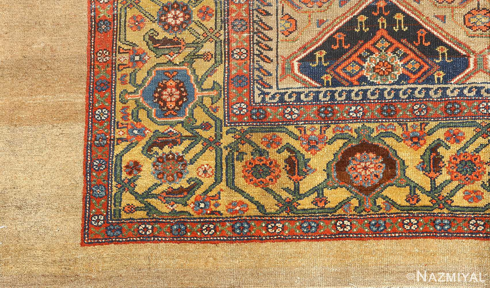 antique serab persian rug 51067 detailed Nazmiyal