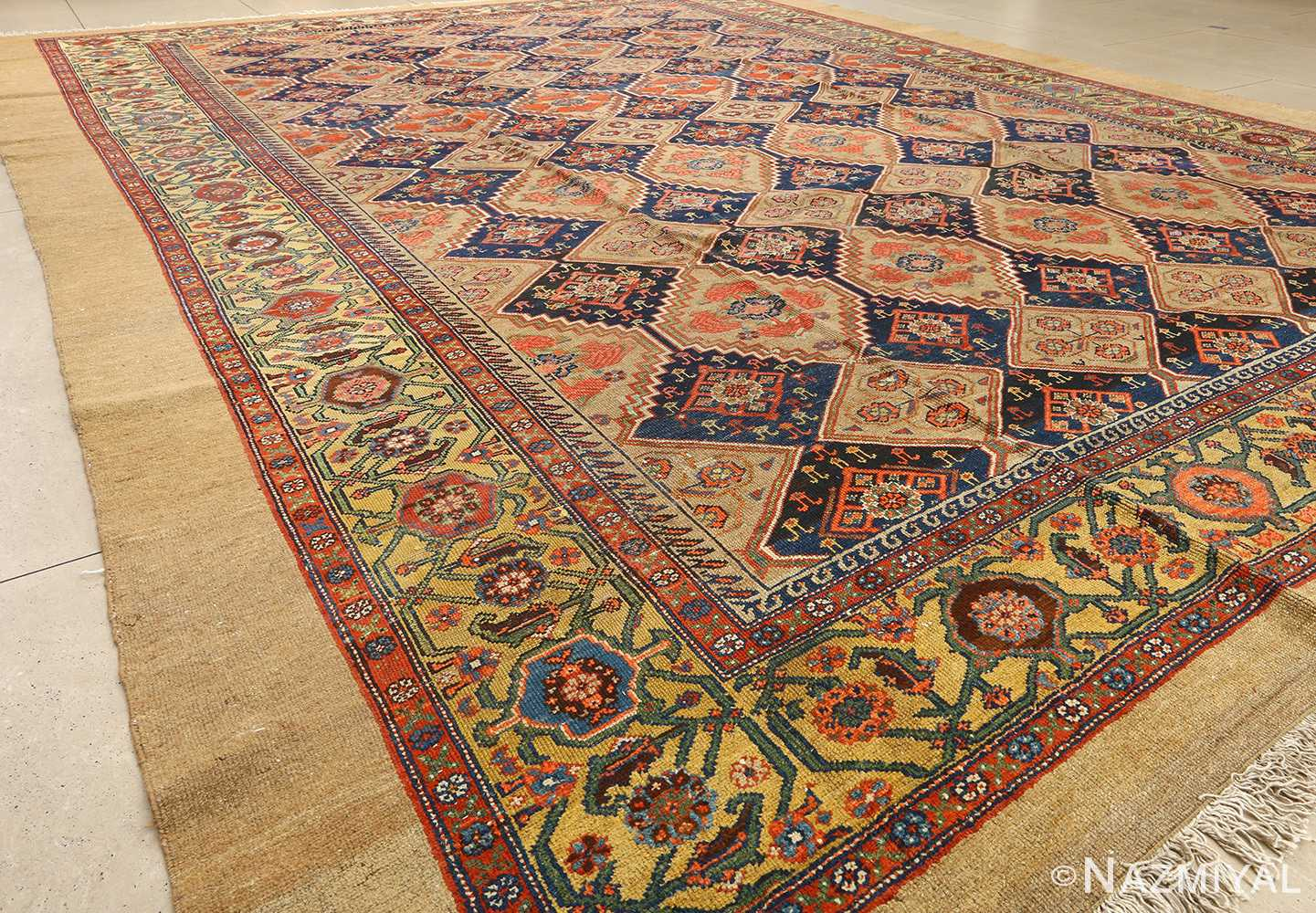 antique serab persian rug 51067 side Nazmiyal