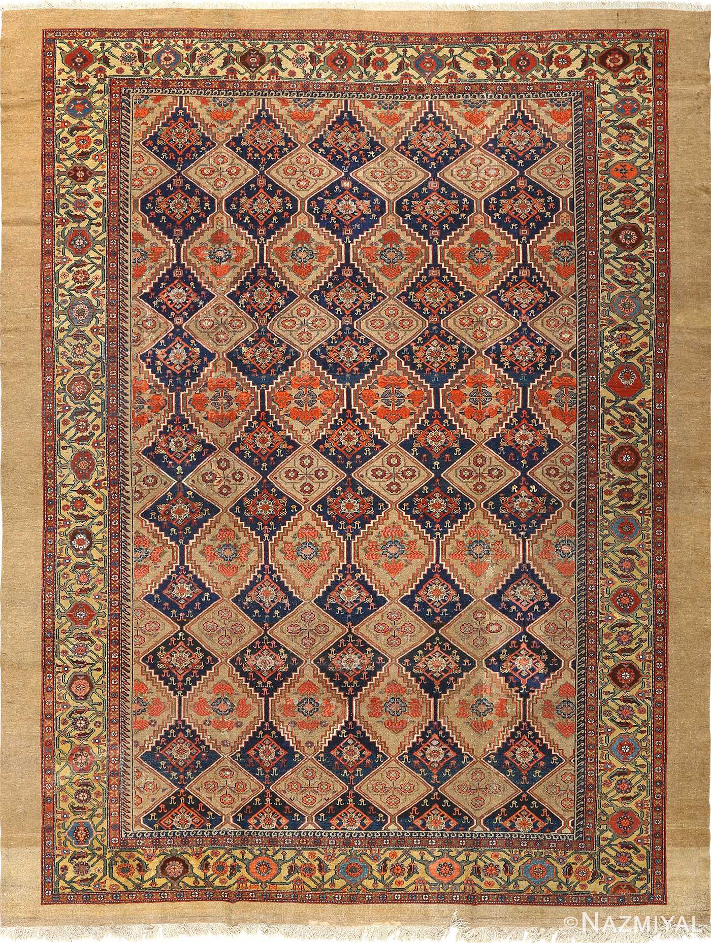 antique serab persian rug 51067 Nazmiyal
