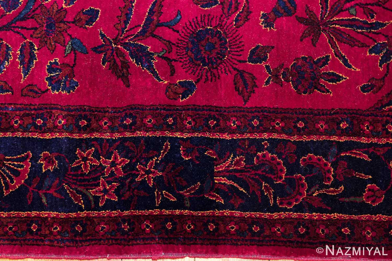antique silk kashan persian rug 49251 border edited Nazmiyal