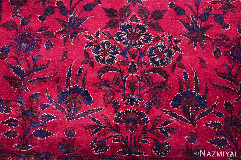 antique silk kashan persian rug 49251 bouquet edited Nazmiyal