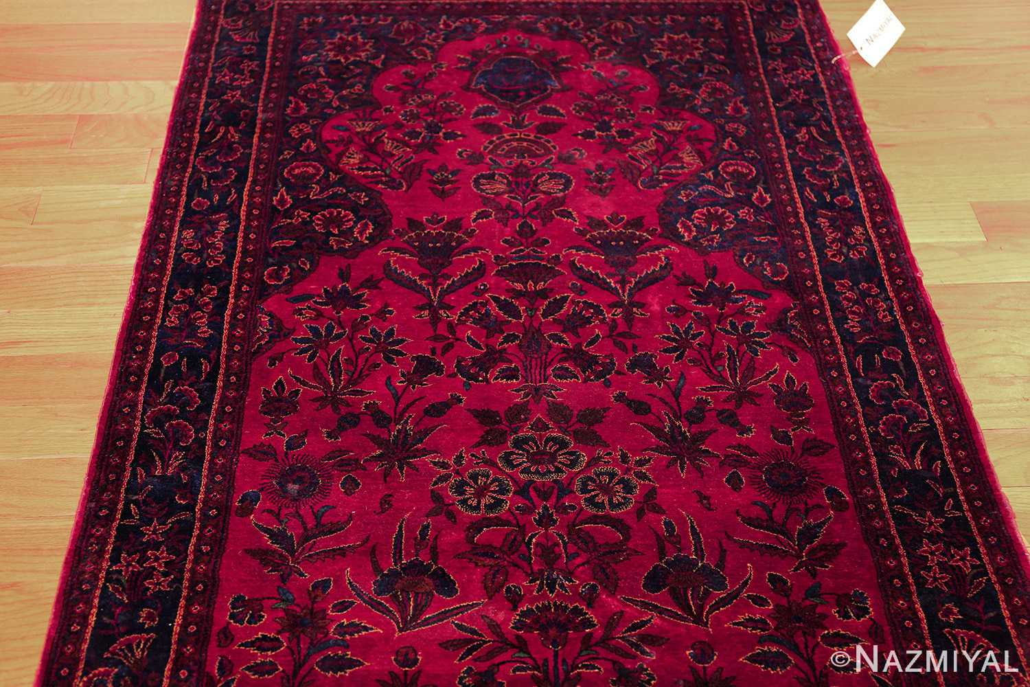 Beautiful Antique Silk Kashan Persian Rug 49251 Nazmiyal