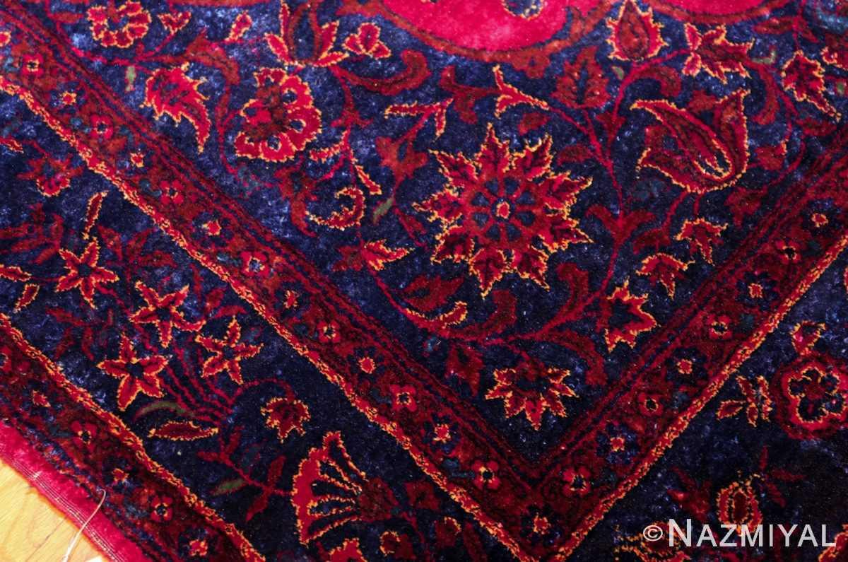antique silk kashan persian rug 49251 design edited Nazmiyal