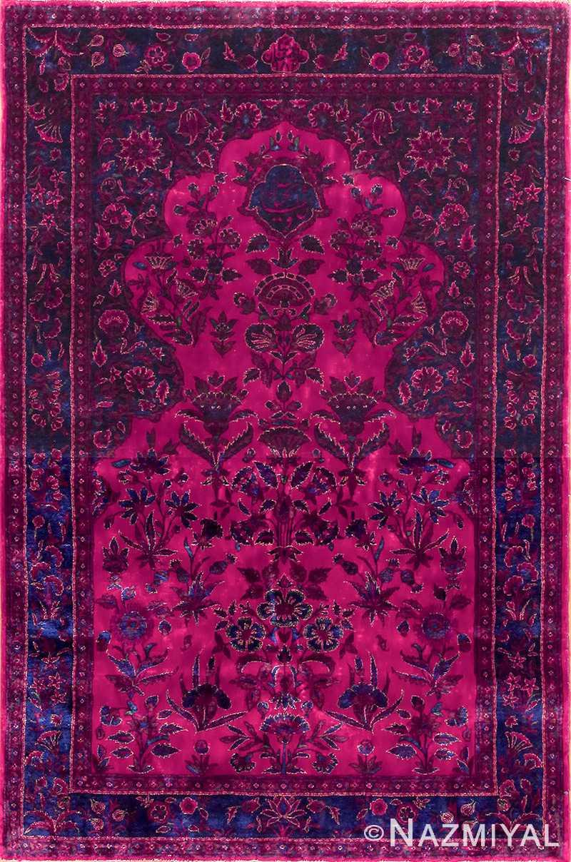 antique silk kashan persian rug 49251 edited Nazmiyal