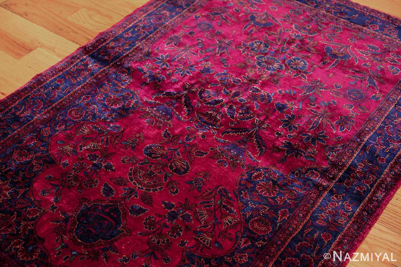 antique silk kashan persian rug 49251 lightside edited Nazmiyal