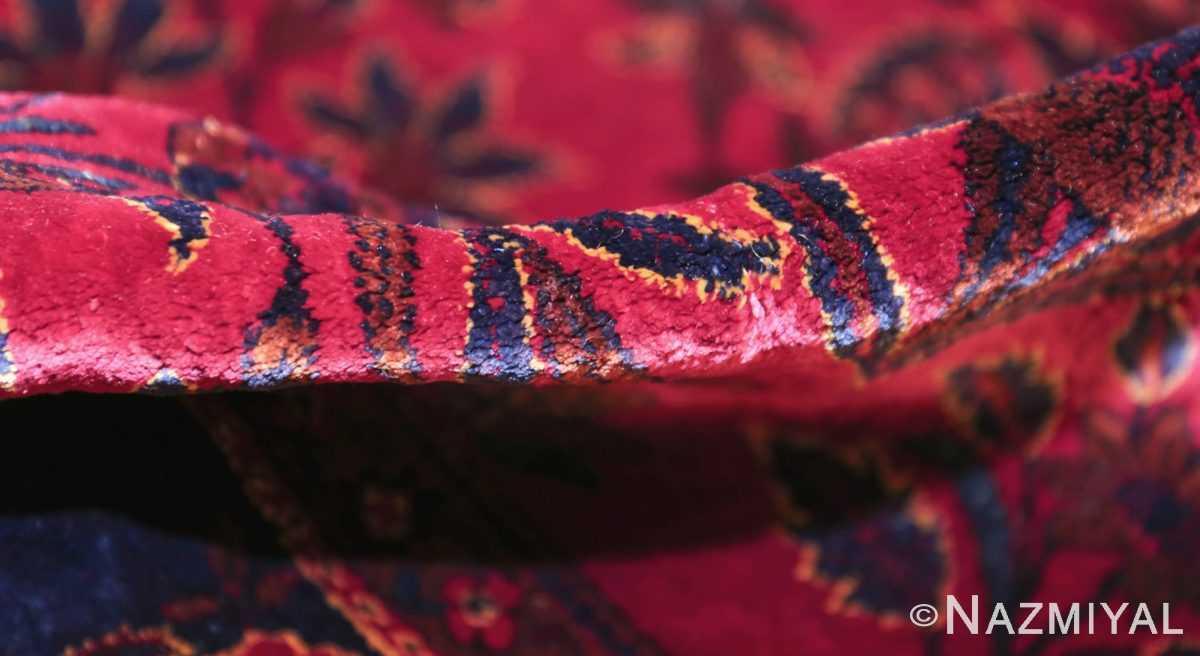 antique silk kashan persian rug 49251 pile edited Nazmiyal