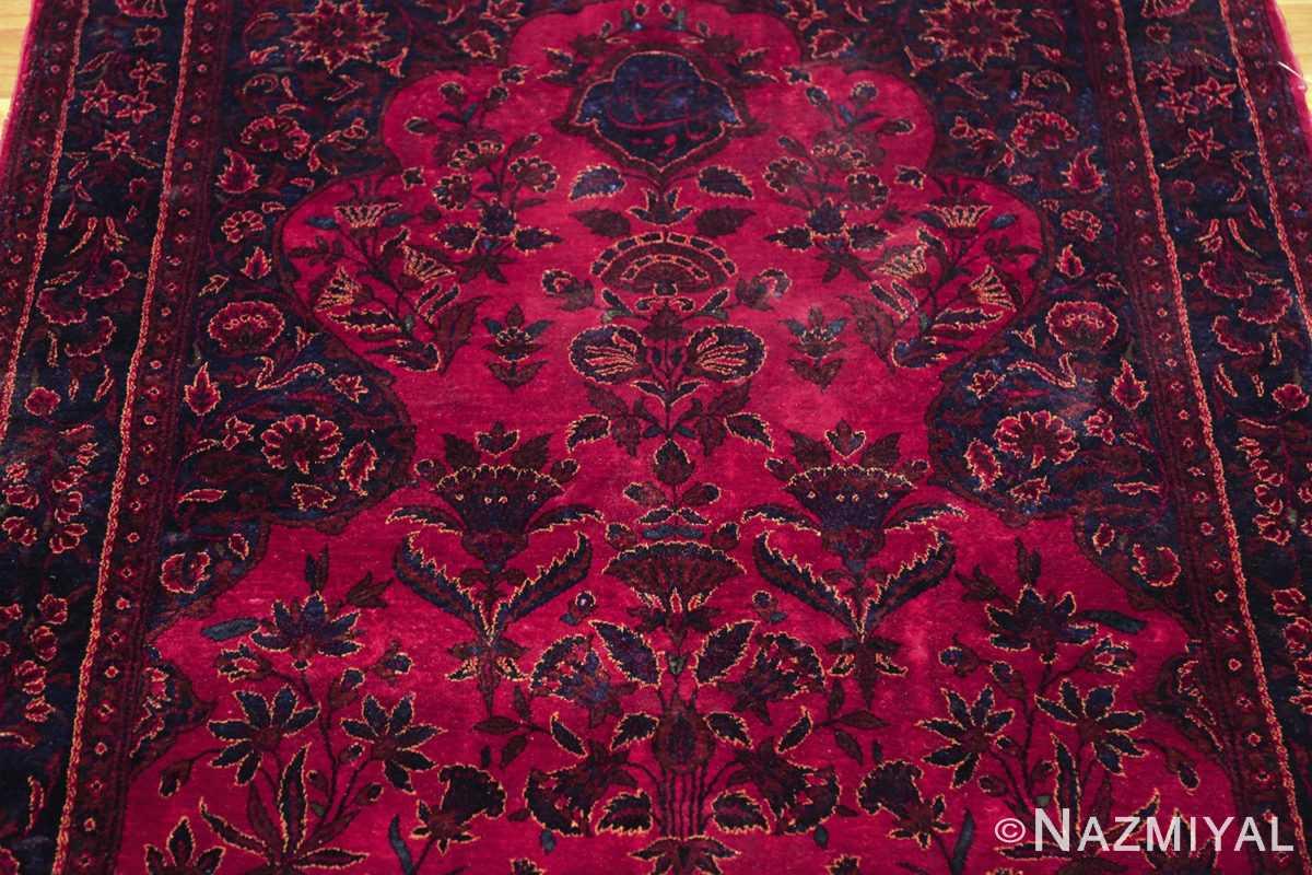 antique silk kashan persian rug 49251 top edited Nazmiyal