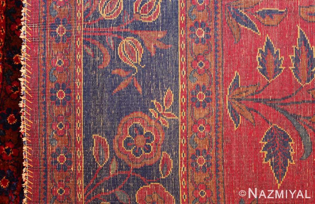 antique silk kashan persian rug 49251 weave Nazmiyal