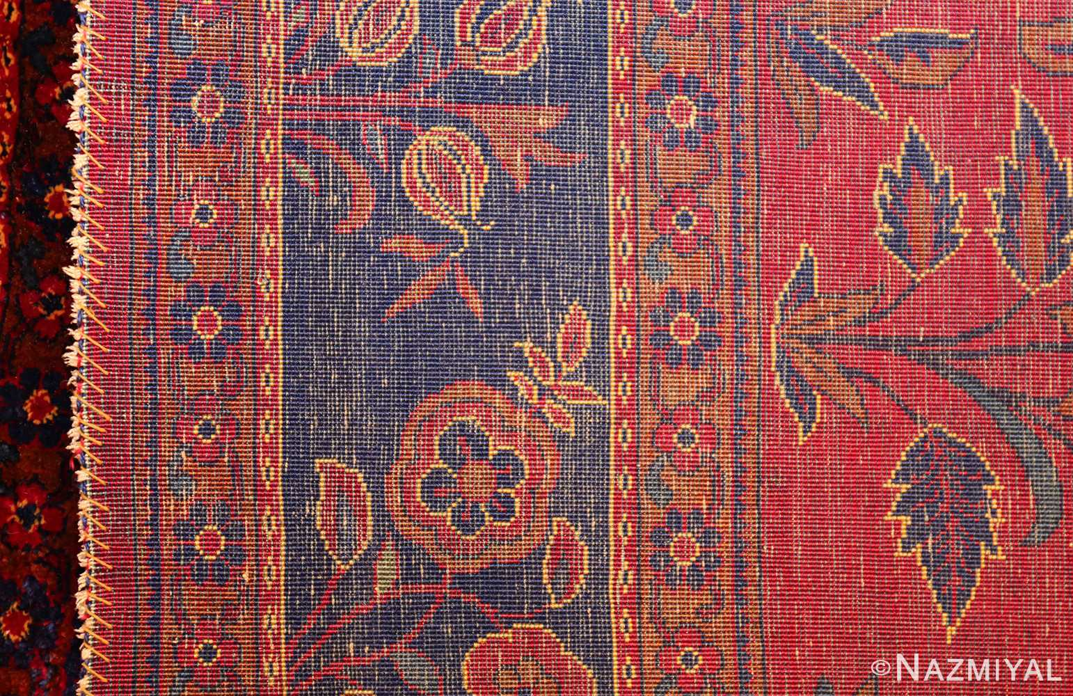 Beautiful Antique Silk Kashan Persian Rug 49251 Nazmiyal