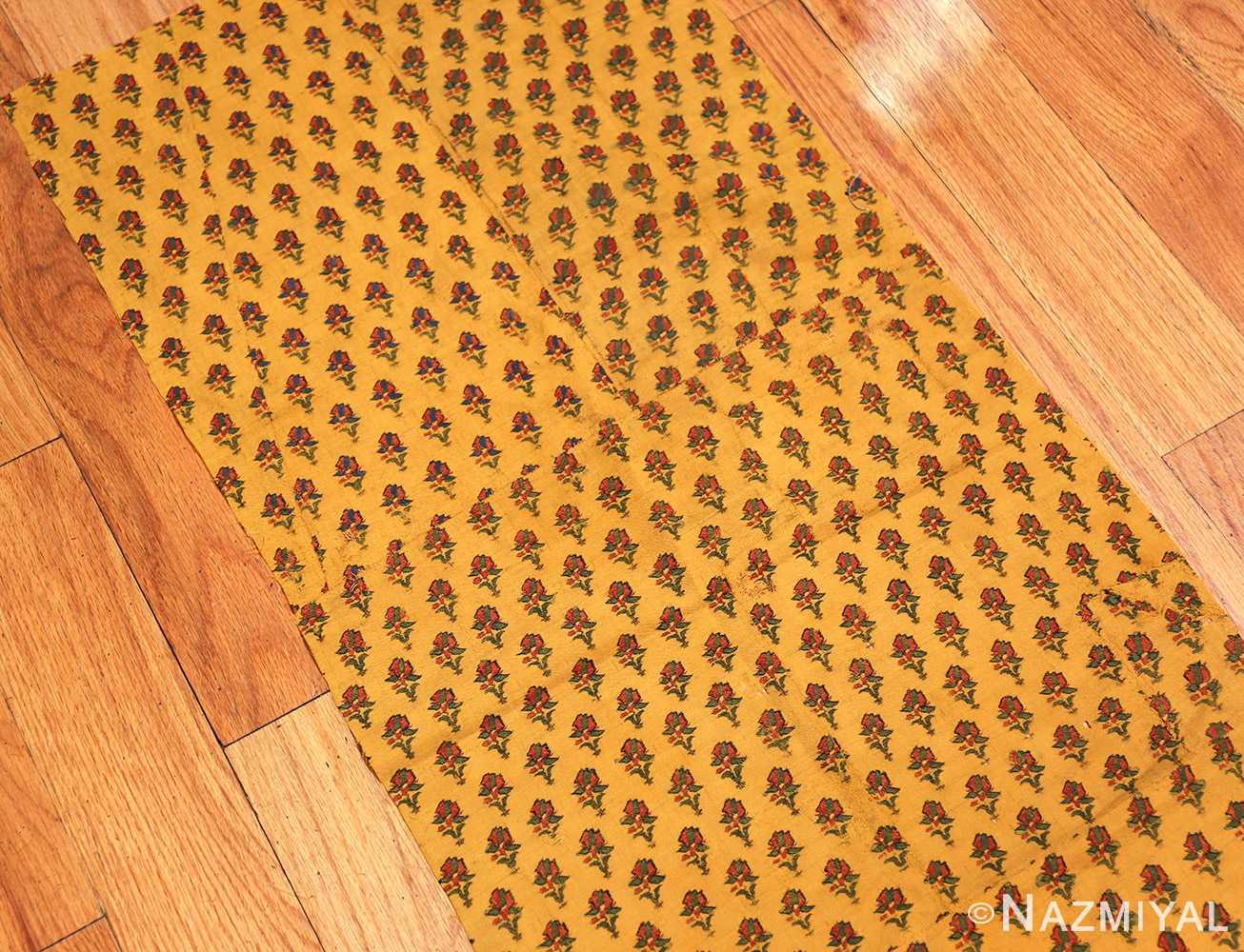 antique silk kashmir mughal shawl 49092 side Nazmiyal