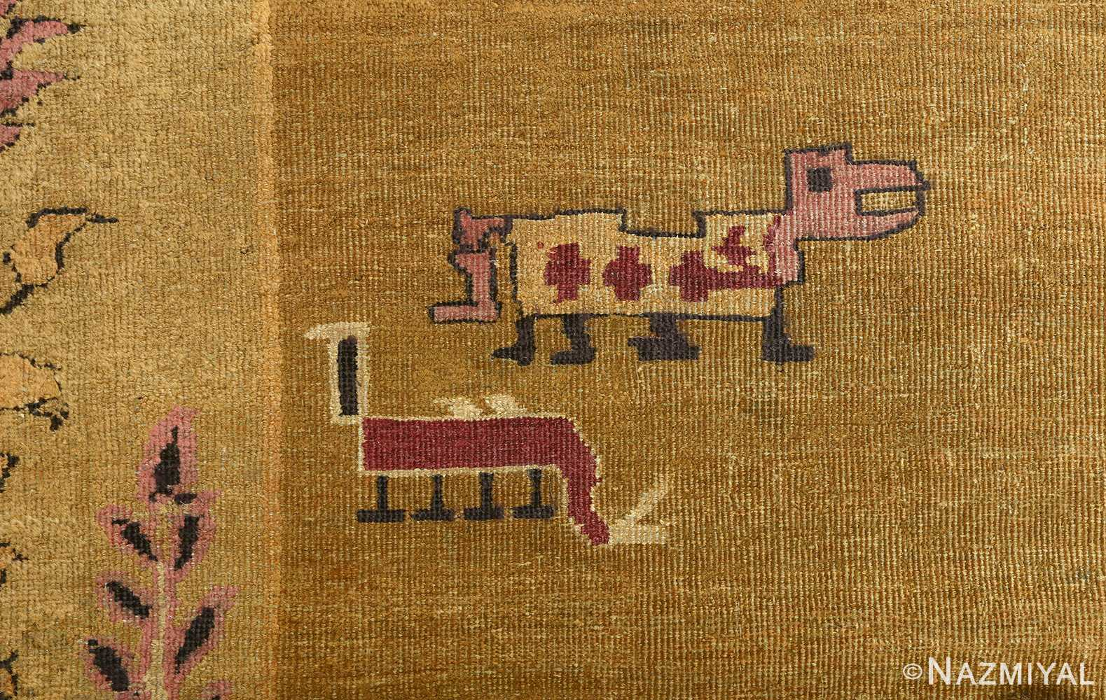 antique tribal agra indian rug 51063 animal Nazmiyal