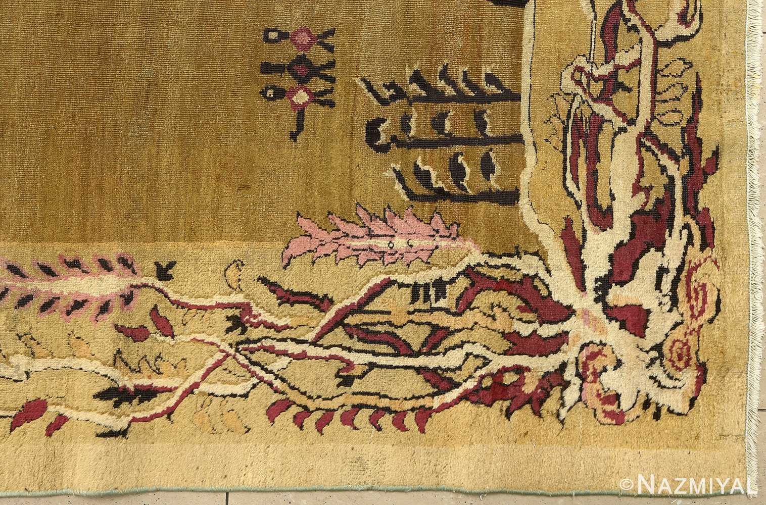 antique tribal agra indian rug 51063 corner Nazmiyal