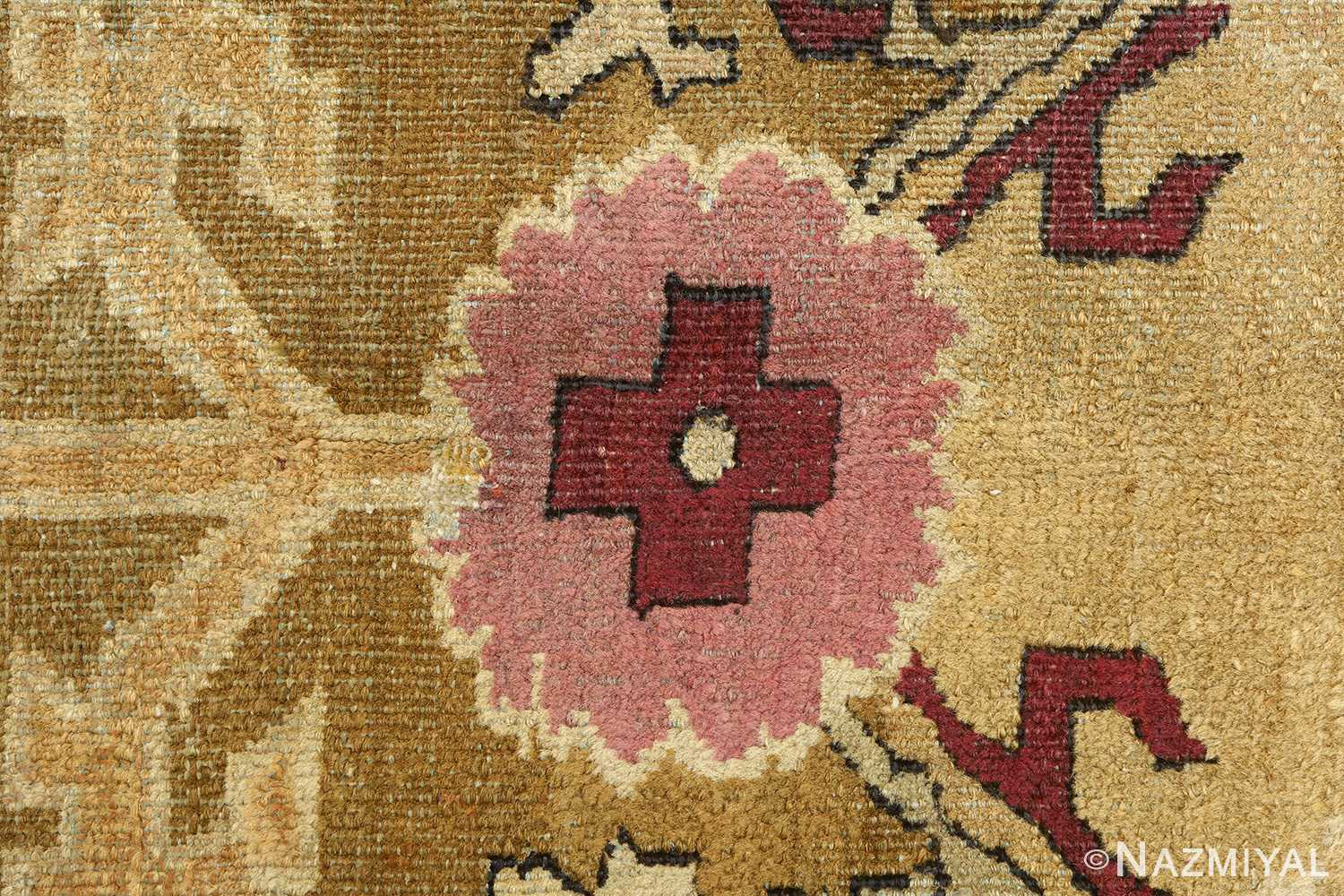 antique tribal agra indian rug 51063 flower Nazmiyal
