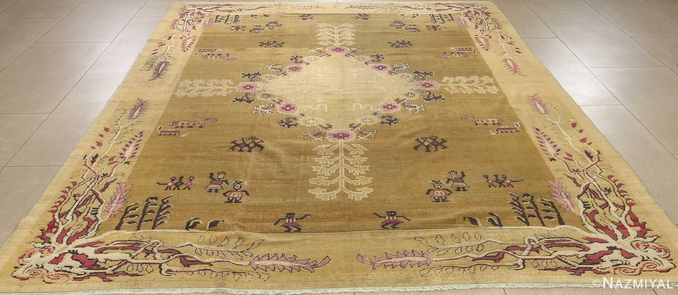 antique tribal agra indian rug 51063 full Nazmiyal