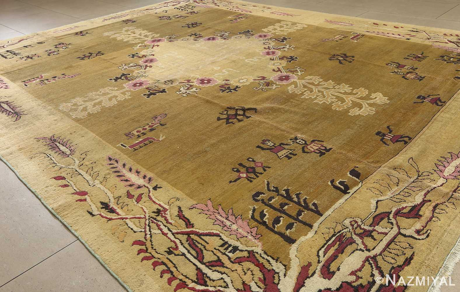 antique tribal agra indian rug 51063 side Nazmiyal