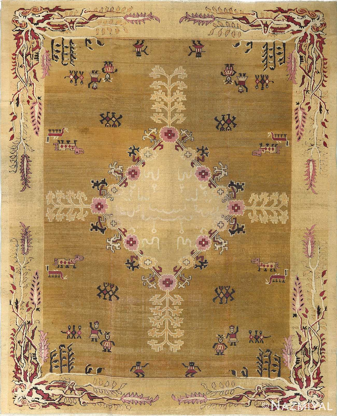 antique tribal agra indian rug 51063 Nazmiyal