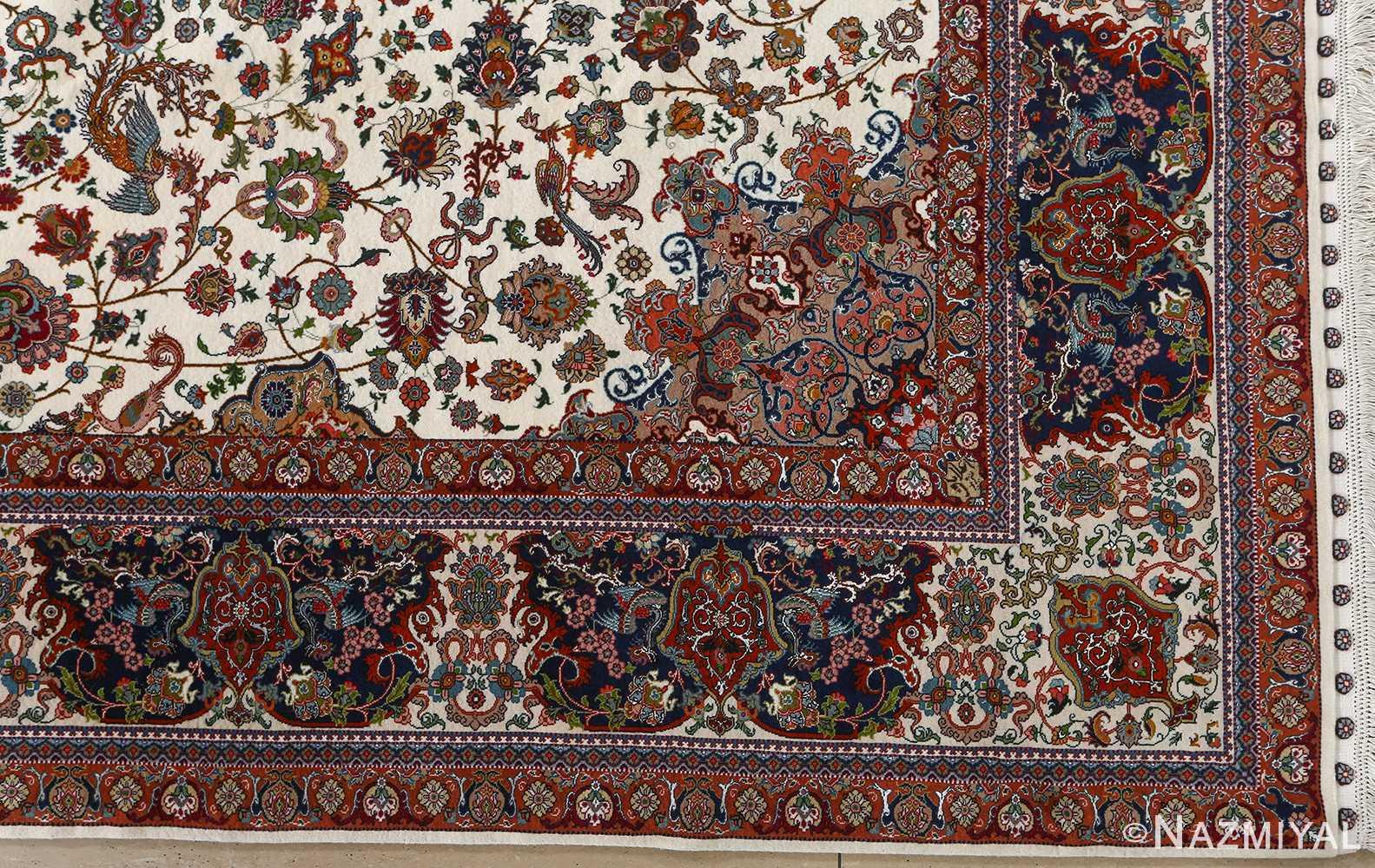 fine ala baf vintage tabriz persian rug 51046 corner Nazmiyal