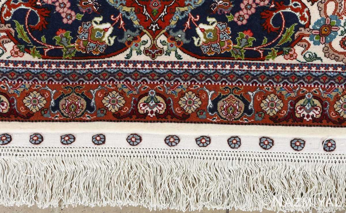 fine ala baf vintage tabriz persian rug 51046 fringe Nazmiyal