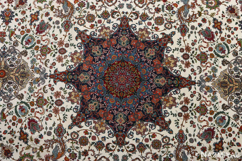 fine ala baf vintage tabriz persian rug 51046 medallion Nazmiyal