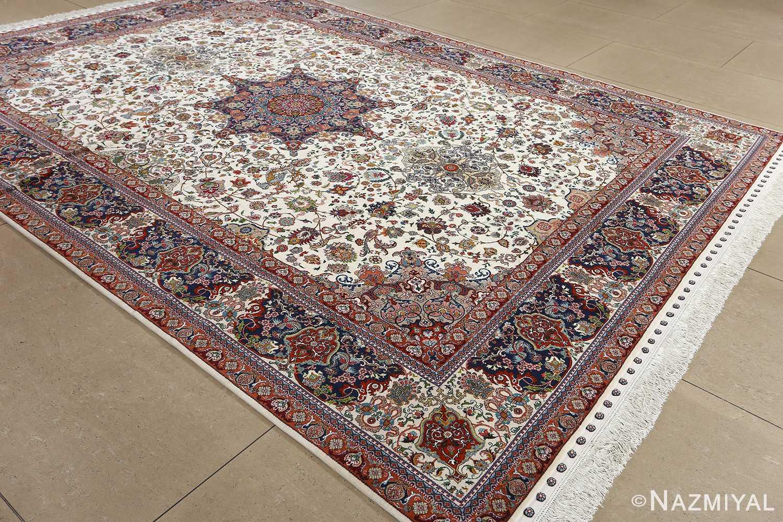 fine ala baf vintage tabriz persian rug 51046 side Nazmiyal