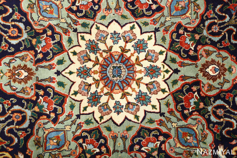 fine animal motif vintage tabriz persian rug 61064 center Nazmiyal